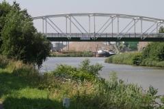 Bunde-069-Brug-Bunde-en-tijdelijke-haven-Grensmaasproject