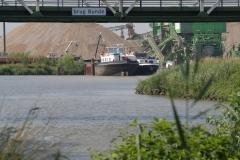 Bunde-071-Brug-Bunde-en-tijdelijke-haven-Grensmaasproject