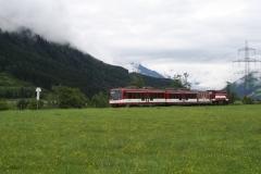 Hollersbach-008-Berglandschap-met-trein-Pinzgauer-Lokalbahn