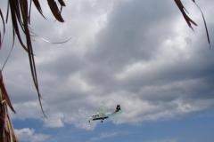 St.-Maarten-0731-Landend-Vliegtuig-gezien-van-onder-een-parasol