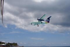 St.-Maarten-0733-Landend-Vliegtuig