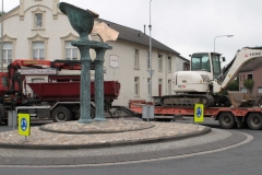 Simpelveld-Vrachtwagencombinatie-passeert-rotonde-bij-Pleistraat-2